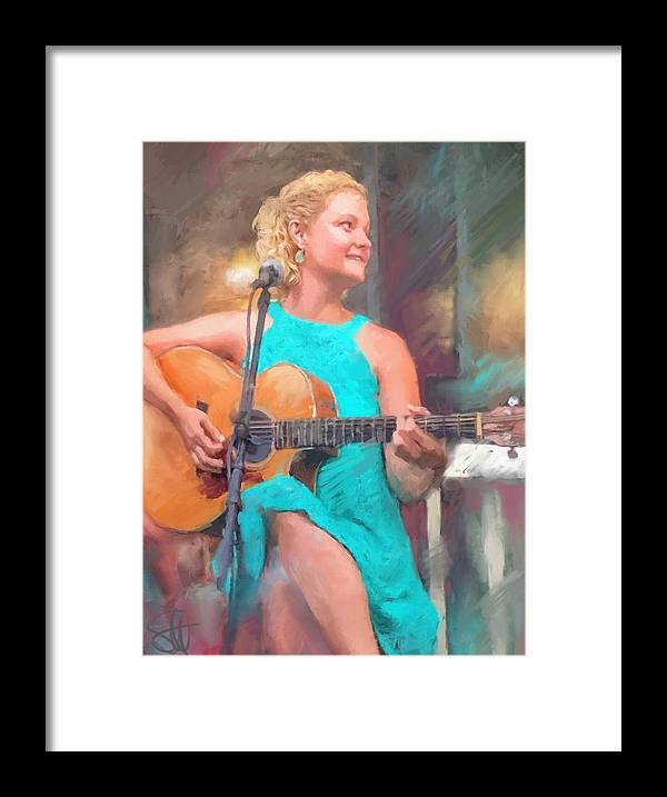 Amy Endrucsin Framed Print featuring the digital art Amy by Scott Waters