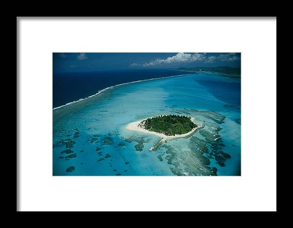 Outdoors Framed Print featuring the photograph An Aerial View Of Saipan Island by Paul Chesley
