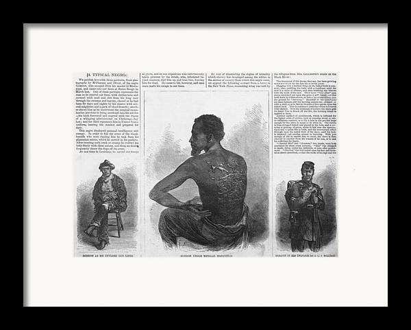 History Framed Print featuring the photograph An African American Runaway Slave Named by Everett