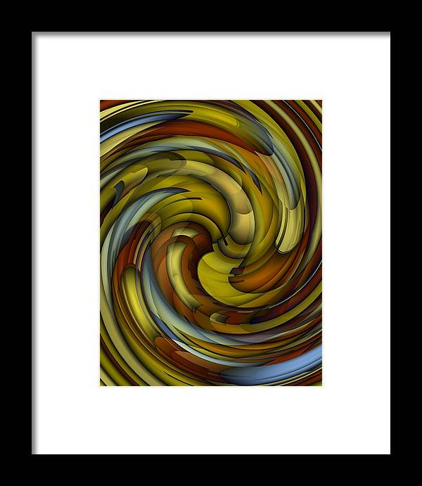 Abstract Framed Print featuring the digital art An Amazing Capture by Terry Mulligan