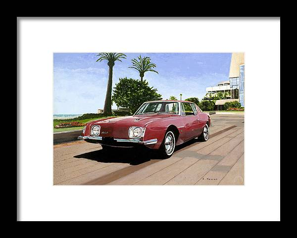 Cannes Framed Print featuring the painting An American In Cannes by Richard Herron