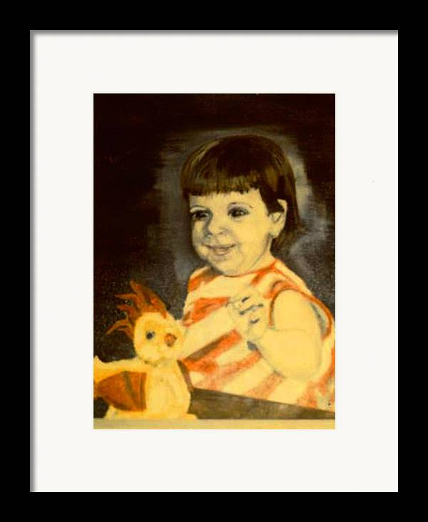 Portrait Child Angel Framed Print featuring the painting An Angel From Heaven by Alfred P Verhoeven