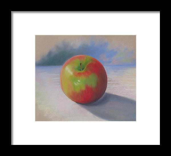 Apple Framed Print featuring the painting An Apple A Day by Shirley Galbrecht