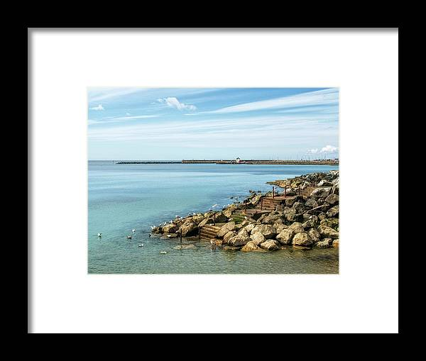 Lyme-regis Framed Print featuring the photograph An April Morning - Lyme Regis by Susie Peek