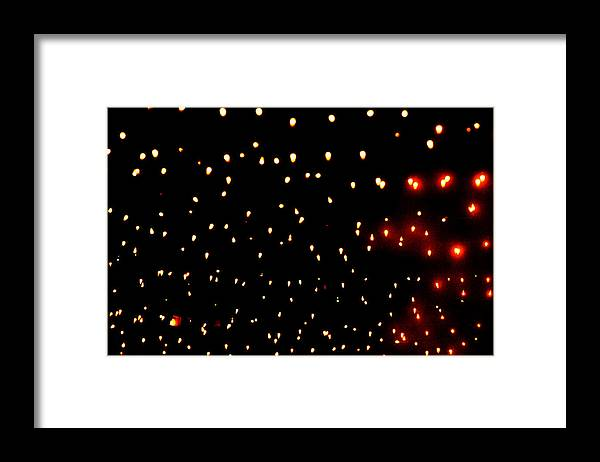 Lights Framed Print featuring the photograph An Aproximation of Stars by Richard Henne
