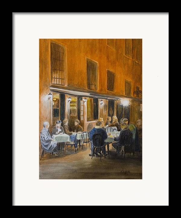 Venice Framed Print featuring the painting An Autumn by Nik Helbig