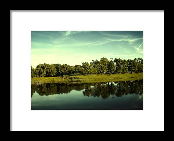 Broemmelsiek Park Framed Print featuring the photograph An Evening At Broemmelsiek Park by Bill Tiepelman
