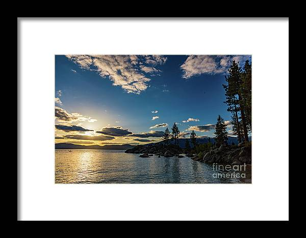 Jyoscape Framed Print featuring the photograph An Evening At The Lake by Jyoti Suravarjula
