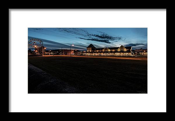 Train Station Framed Print featuring the photograph An Evening At The Train Station by Dion Wiles