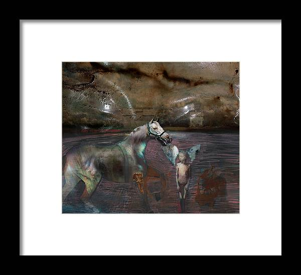 Death Framed Print featuring the digital art An Image Of Death by Henriette Tuer lund