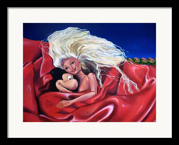 Nude Framed Print featuring the painting An Impossible Love by Helene Fleury