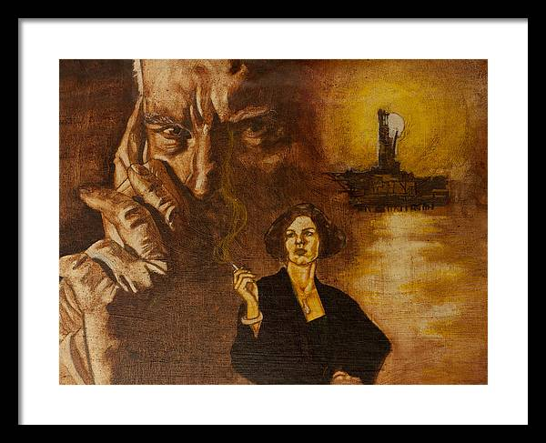Oil Paint Framed Print featuring the painting An Inconvenient Intrigue by Michael Facey
