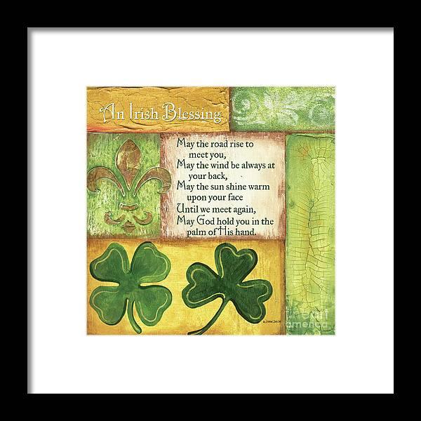 Irish Framed Print featuring the painting An Irish Blessing by Debbie DeWitt