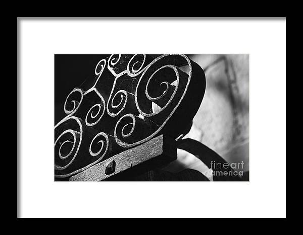 Sconce Framed Print featuring the photograph An Old Decorative Sconce by Hideaki Sakurai