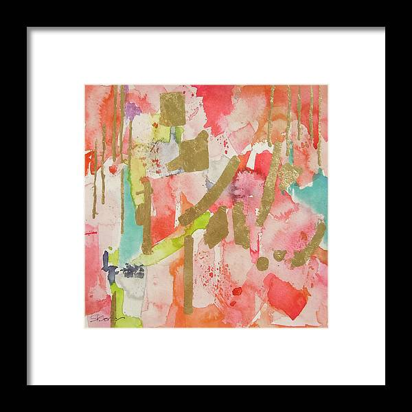 Watercolor Framed Print featuring the painting An Old Sweet Song by Roleen Senic