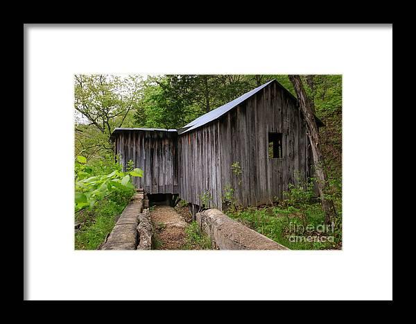 Missouri Ozarks Framed Print featuring the photograph An Ozark Mill by Lynn Sprowl