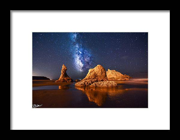 Landscape Framed Print featuring the photograph An Unearthly Oregon Coast by Russell Wells