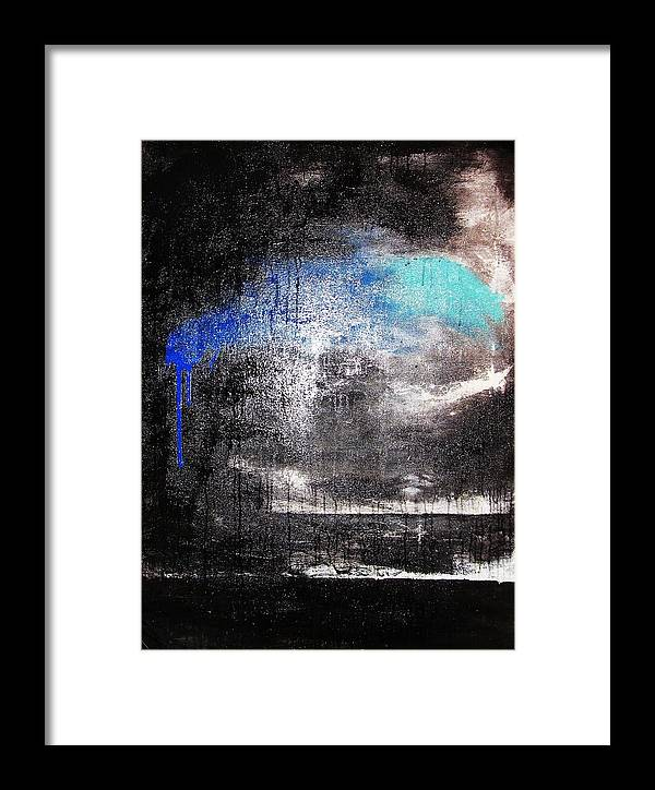 Storm Framed Print featuring the painting An Unusual Storm by Steffen Anderson