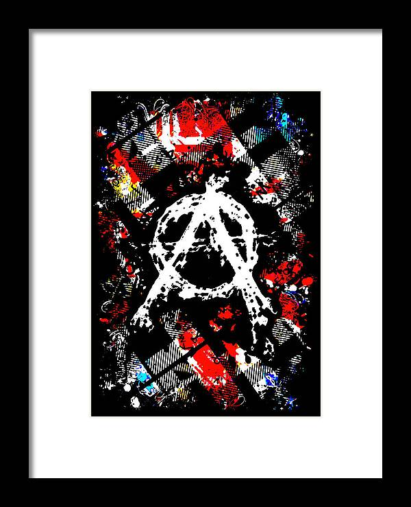 Punk Framed Print featuring the digital art Anarchy Punk by Roseanne Jones