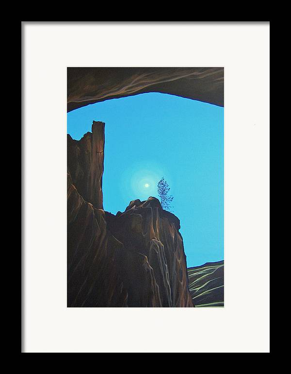 New Mexico Framed Print featuring the painting Anasazi Dreams by Hunter Jay