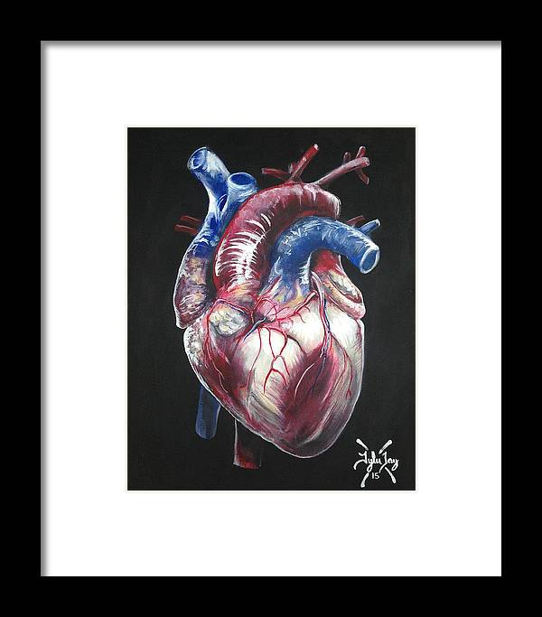 Anatomical Heart Framed Print by Tyler Haddox