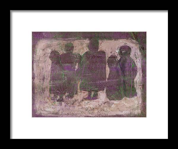 Ancestors Framed Print featuring the painting Ancestors by Wayne Potrafka