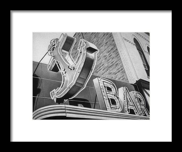 Sign Framed Print featuring the drawing Anchor Bar by Van Cordle