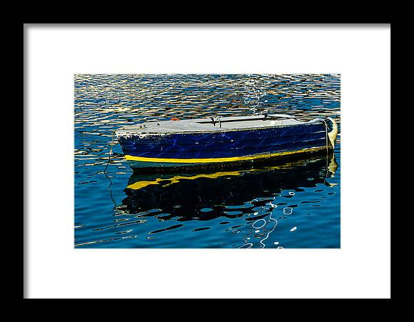 Boat Framed Print featuring the photograph Anchored Boat by Wolfgang Stocker