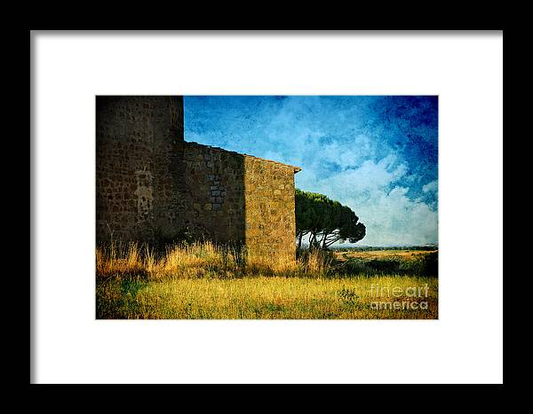 Ancient Framed Print featuring the photograph Ancient Church - Italy by Silvia Ganora