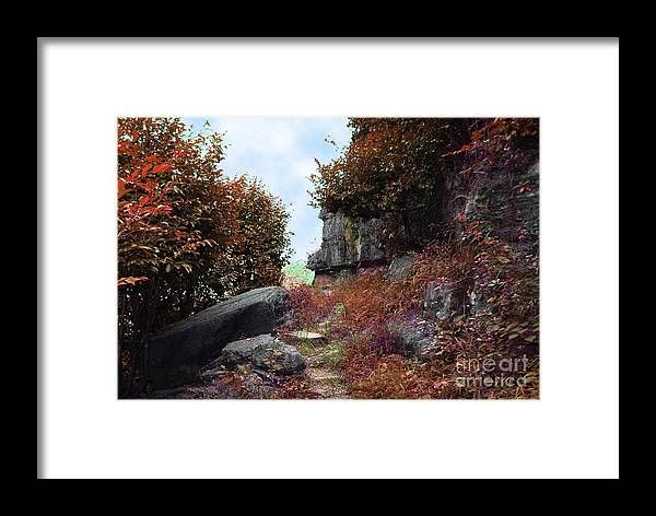 Landscape Framed Print featuring the photograph Ancient Pathway by Dot Xie