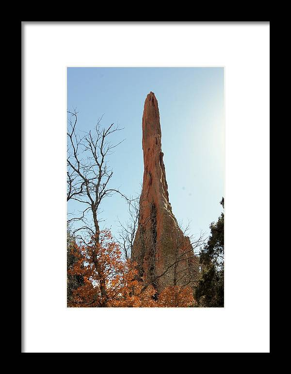 Garden Of The Gods Framed Print featuring the photograph Ancient Pinnacle by Rhonda DePalma