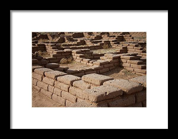 Adobe Framed Print featuring the photograph Ancient Pueblo Adobe Walls by Mary Lee Dereske