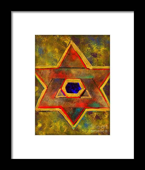 Ancient Star Framed Print featuring the painting Ancient Star by Wbk