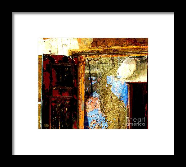 Michael Fitzpatrick Framed Print featuring the photograph Ancient Wall 3 By Michael Fitzpatrick by Mexicolors Art Photography