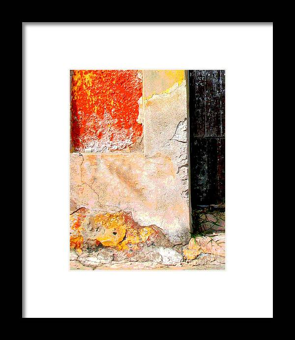 Michael Fitzpatrick Framed Print featuring the photograph Ancient Wall 4 By Michael Fitzpatrick by Mexicolors Art Photography
