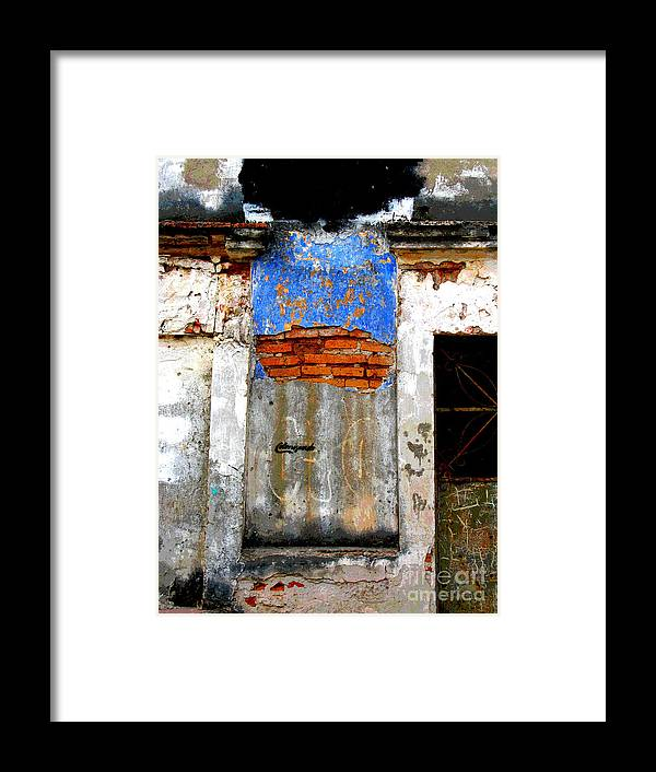 Darian Day Framed Print featuring the photograph Ancient Wall 5 By Darian Day by Mexicolors Art Photography