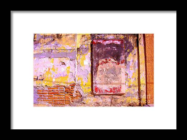 Michael Fitzpatrick Framed Print featuring the photograph Ancient Wall 7 By Michael Fitzpatrick by Mexicolors Art Photography