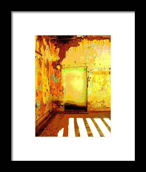 Michael Fitzpatrick Framed Print featuring the photograph Ancient Wall 8 By Michael Fitzpatrick by Mexicolors Art Photography