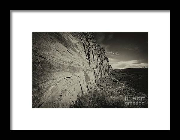 Utah Landscape Framed Print featuring the photograph Ancient Walls by Jim Garrison