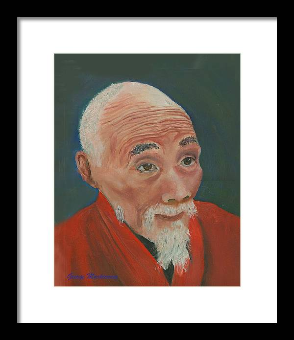 Portrait Framed Print featuring the print Ancient Wisdom by George Markiewicz