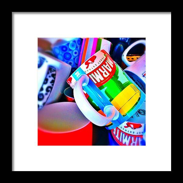Mugs Framed Print featuring the photograph And A Jumble Of Mugs.... #mugs #jumble by Mark Thornton