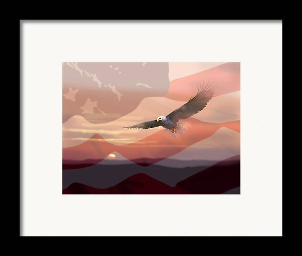 Eagle Framed Print featuring the painting And The Eagle Flies by Paul Sachtleben