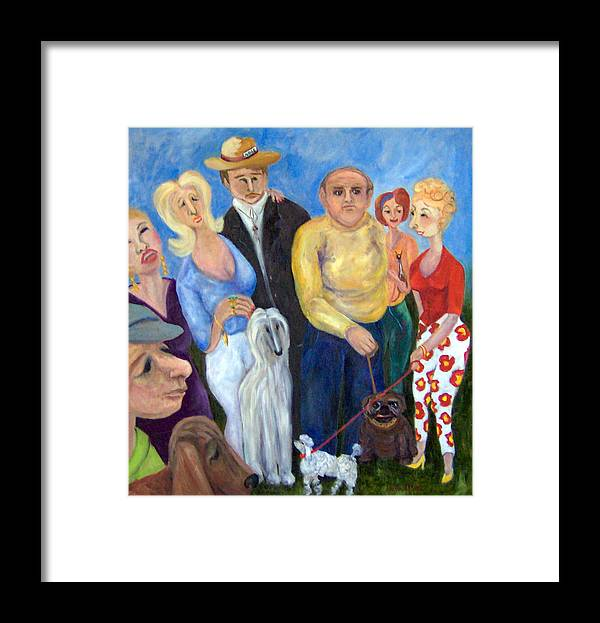People Framed Print featuring the painting And the Winner is............ by Lorna Skeie