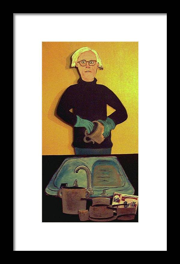 Warhol Framed Print featuring the relief And Then  It Occured by Richard Hubal