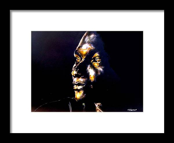 Framed Print featuring the mixed media And Then Our Eyes Met by Chester Elmore