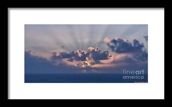Clouds Framed Print featuring the photograph And Then There Was Day One by Roberta Byram