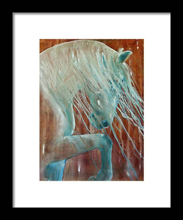 Horse Art Framed Print featuring the painting Andalusian Stallion by Jani Freimann
