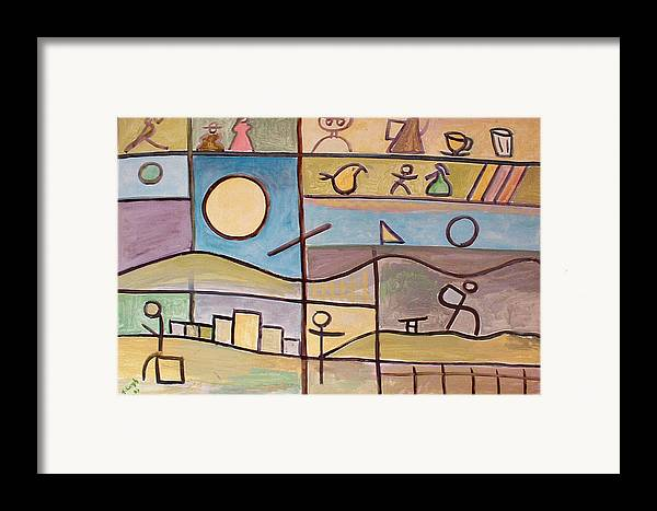 Abstract Framed Print featuring the painting Andante by Michael Keogh