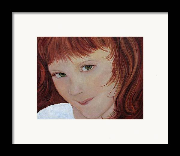 Portrait Framed Print featuring the painting Andee by Aimee Vance