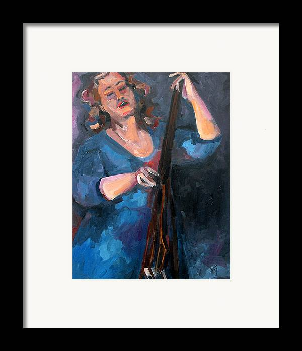 Blues Musician Framed Print featuring the painting Andrafaye by Jackie Merritt